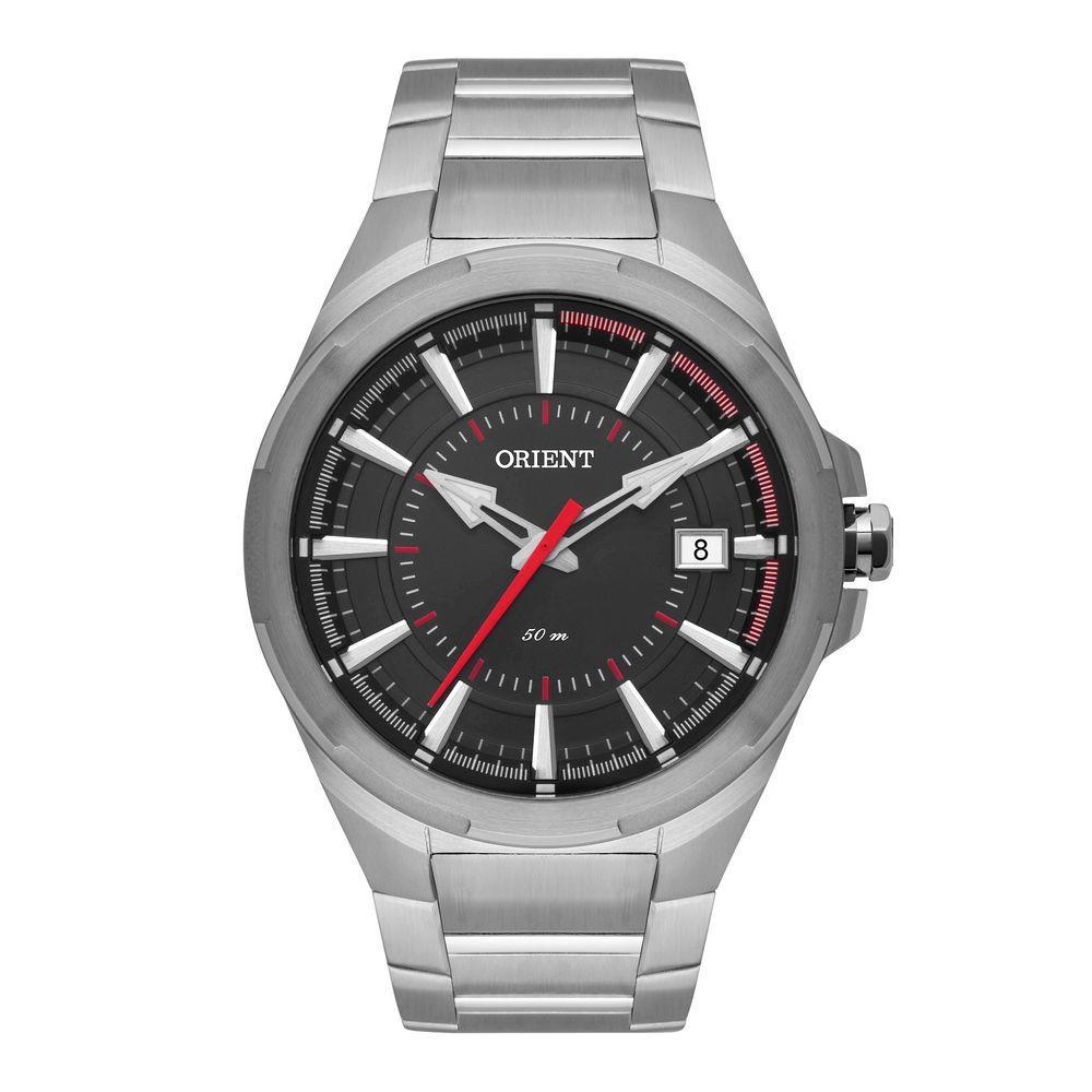 Relógio ORIENT MBSS1357 PVSX Prata - Mostrador Preto com Calendário