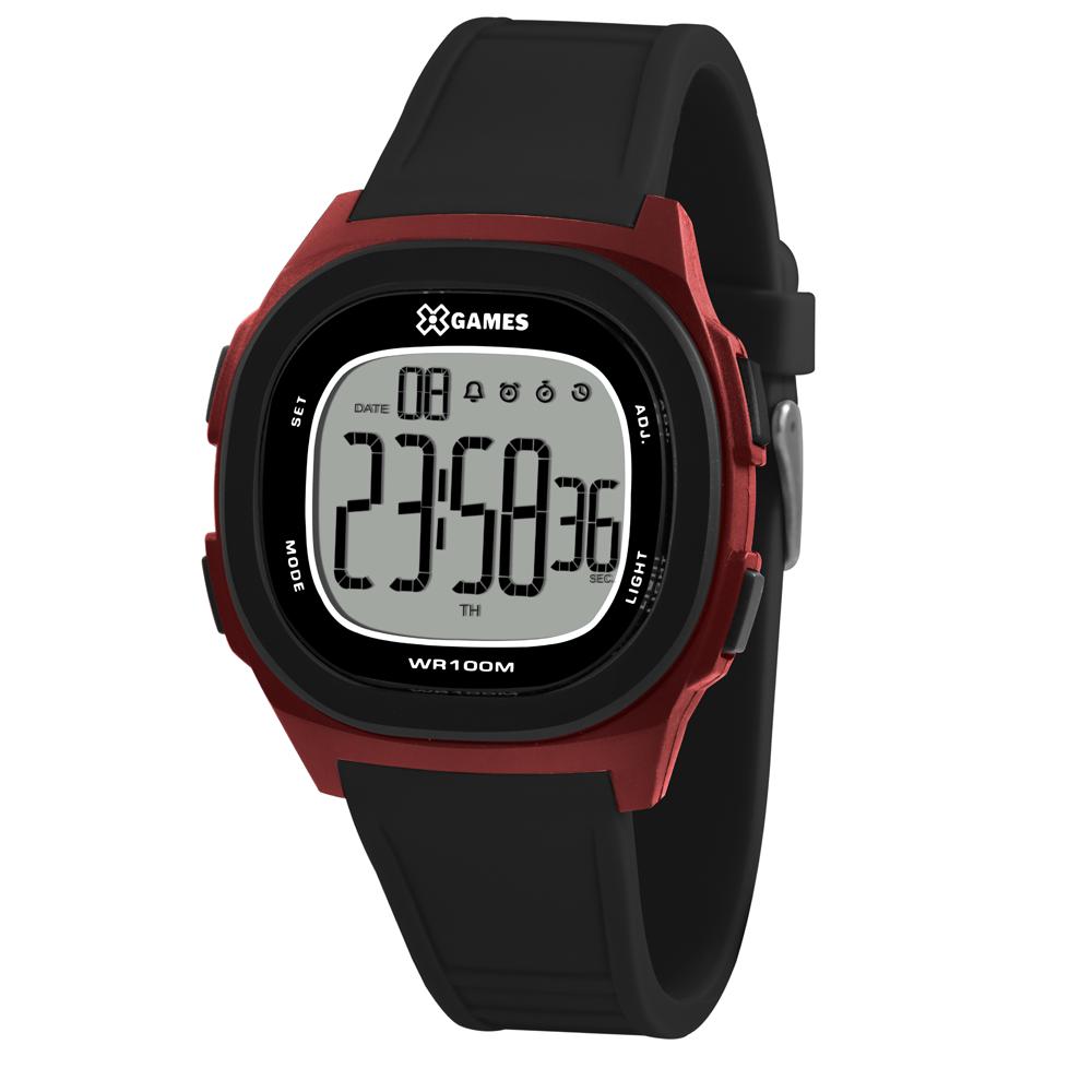 Relógio X-GAMES XGPPD129-BXPX Preto com Vermelho