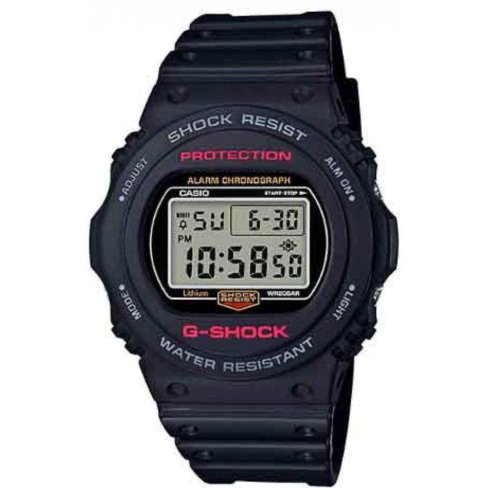 Relógio Digital G-SHOCK DW-5750E-1DR Preto - Detalhe Vermelho