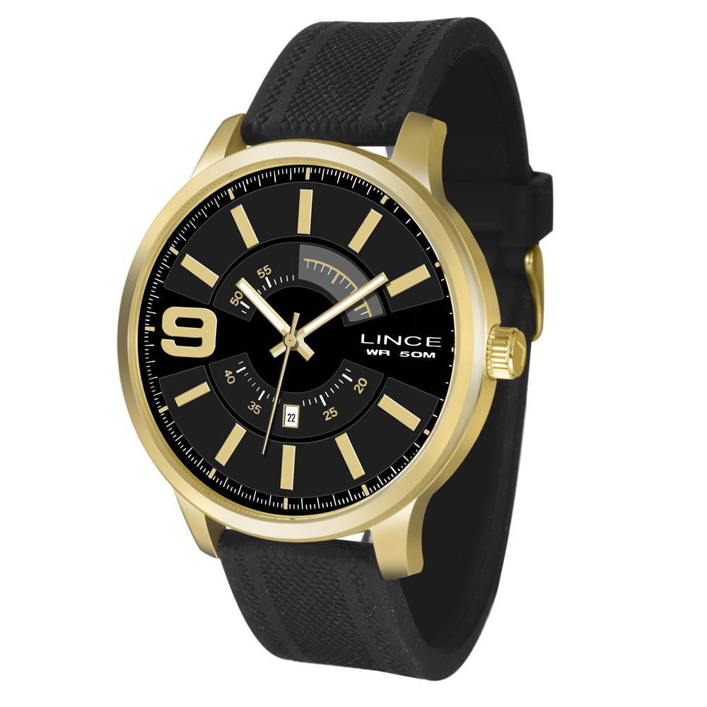 Relógio LINCE Analógico MRPH055S P2PX Dourado Pulseira Silicone
