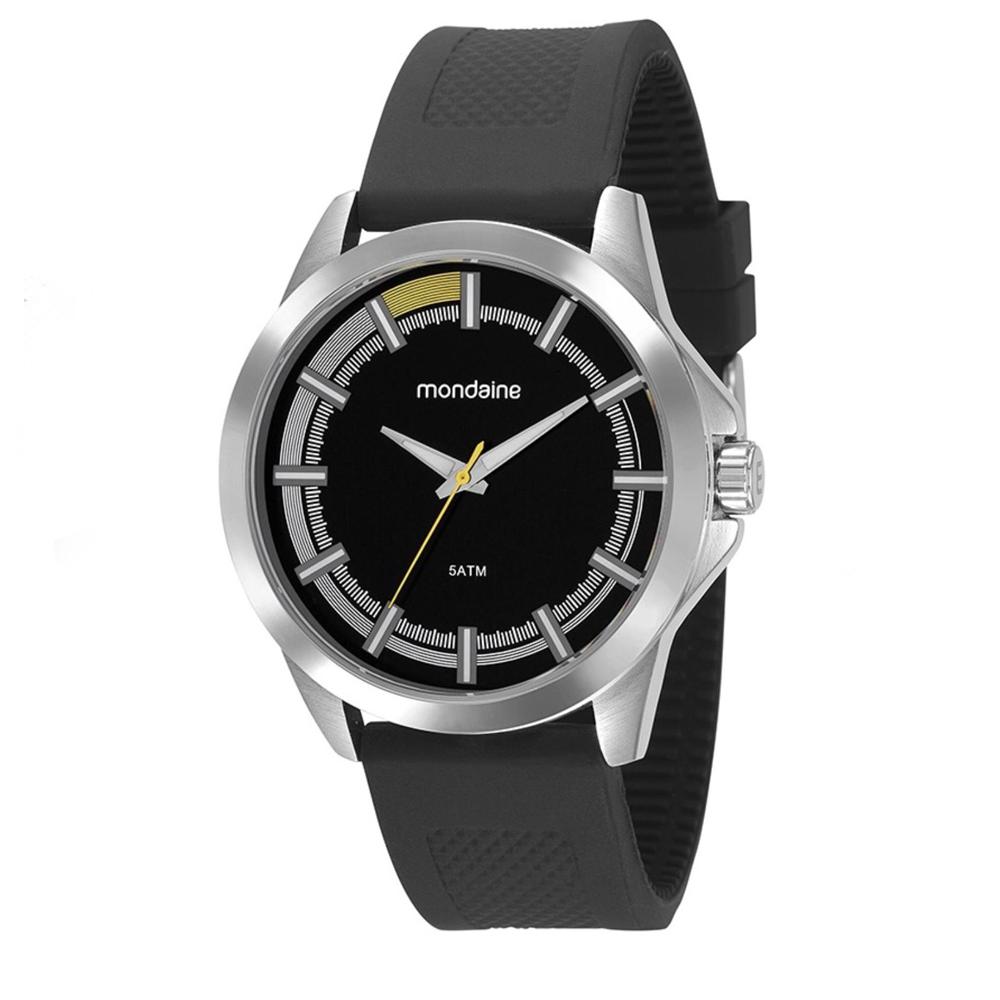 Relógio MONDAINE 99212G0MVNI2 Prata com pulseira de silicone