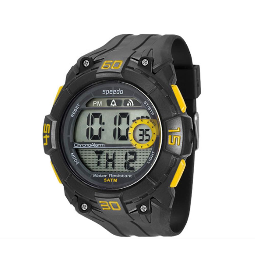 Relógio SPEEDO 81074G0EGNP2 Digital - Preto com detalhe Amarelo