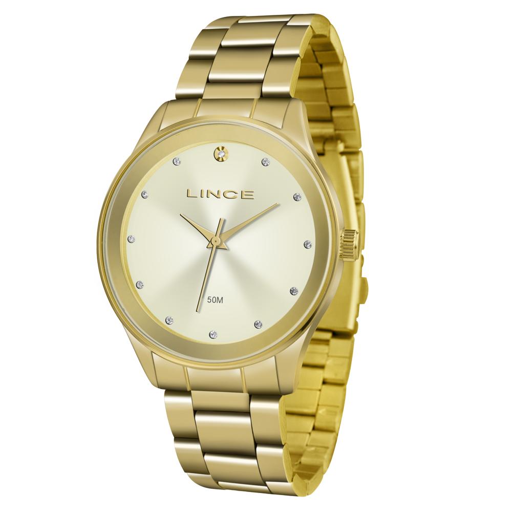 Relógio LINCE LRGJ090L C1KX Analógico Dourado