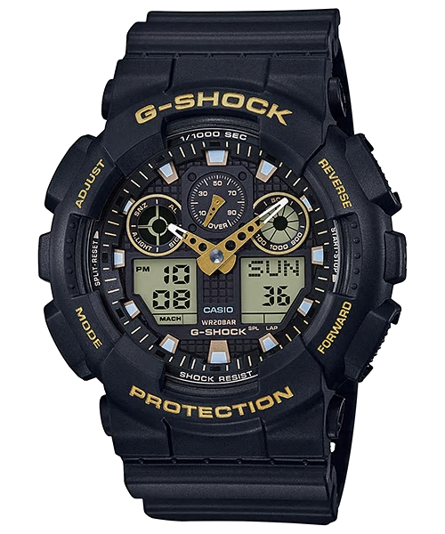 RELÓGIO CASIO G-SHOCK GA-100GBX-1A9DR - ANADIGI PRETO