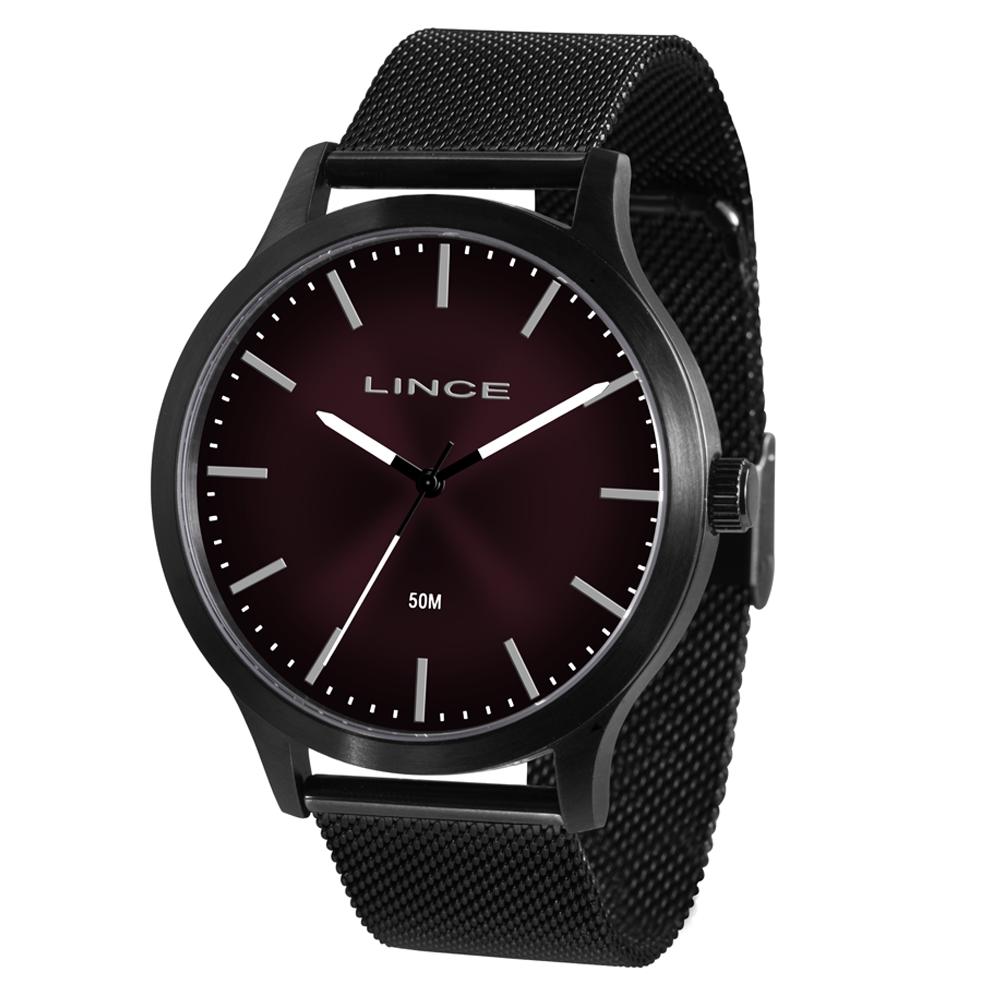 Relógio LINCE MRN4602S W1PX Preto Fundo Vermelho - Pulseira Estilo Esteria