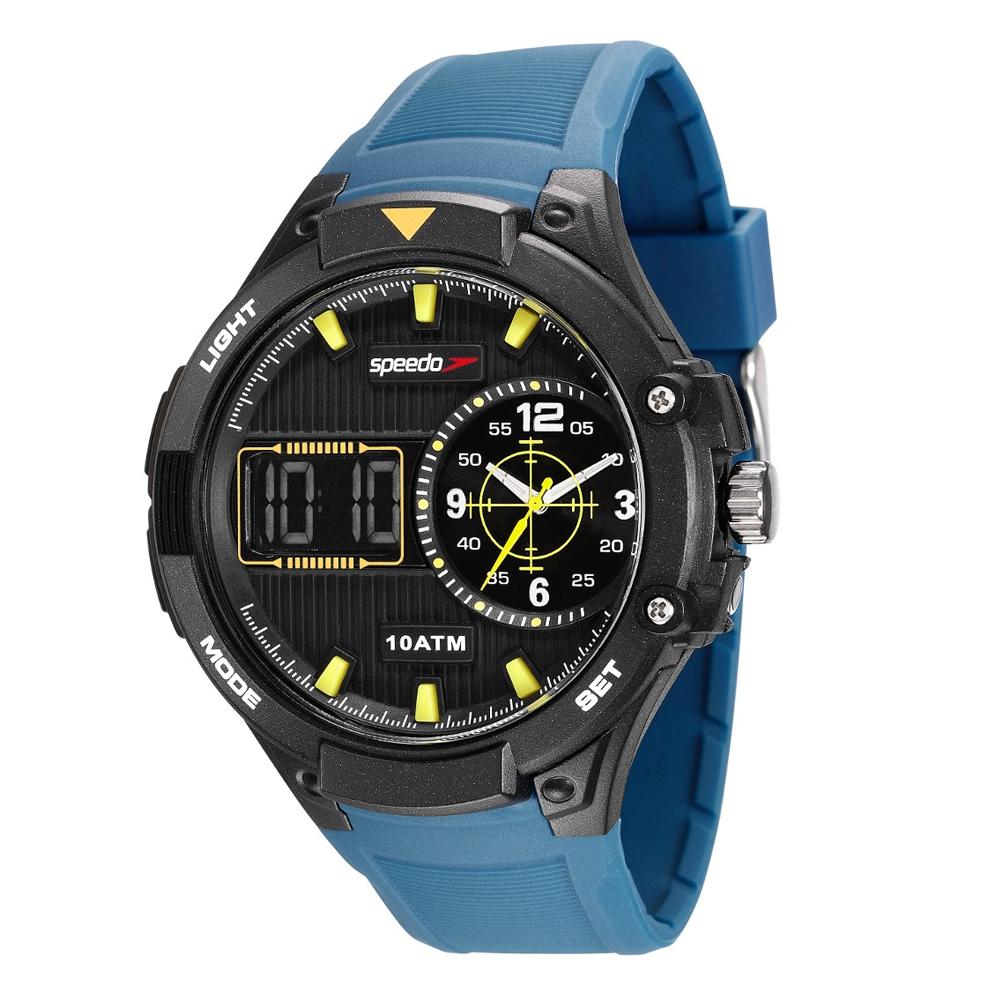 Relógio SPEEDO 81149G0EVNP1 Analógio e Digital Preto Pulseira Azul