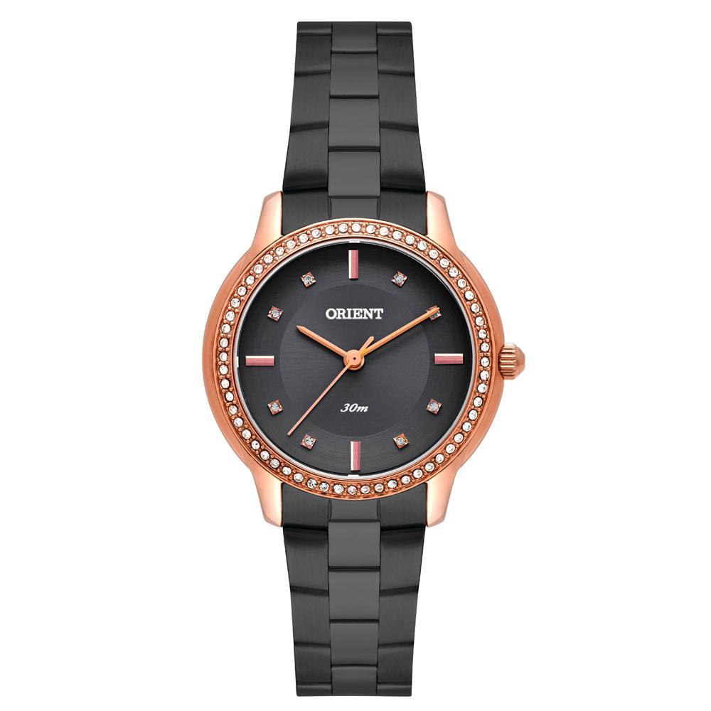 Relógio ORIENT FTSS0084 G1GX Feminino Preto com Rosê