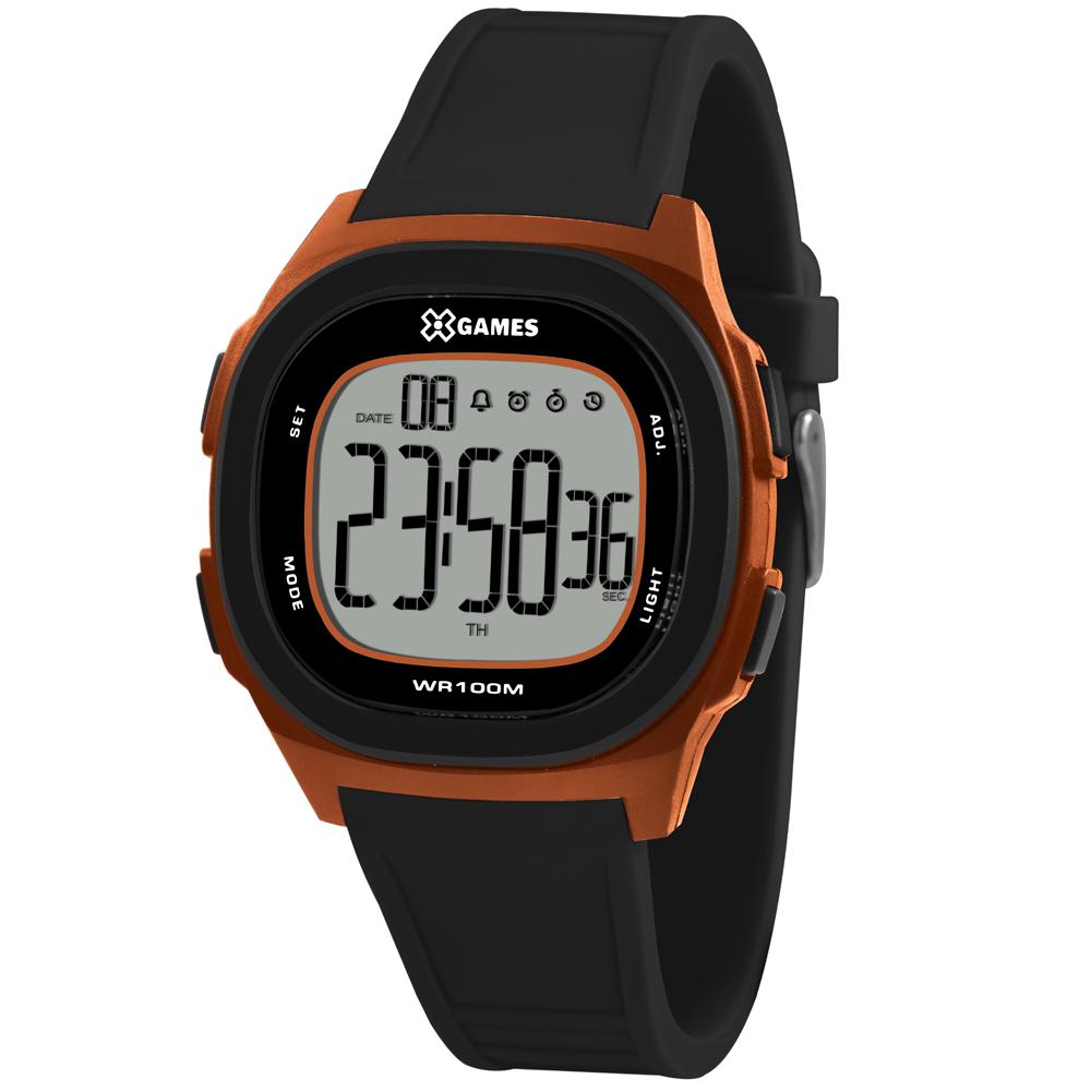 Relógio X-GAMES XGPPD131-BXPX Digital Preto e Alaranjado