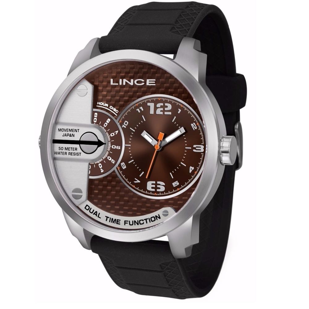 Relógio LINCE MRPH049S M2PX Prata - Mostrador Marrom