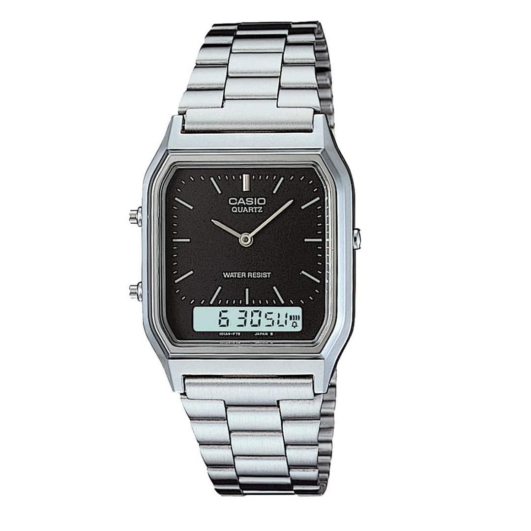 Relógio CASIO Anadigi AQ-230A-1DMQ Prateado