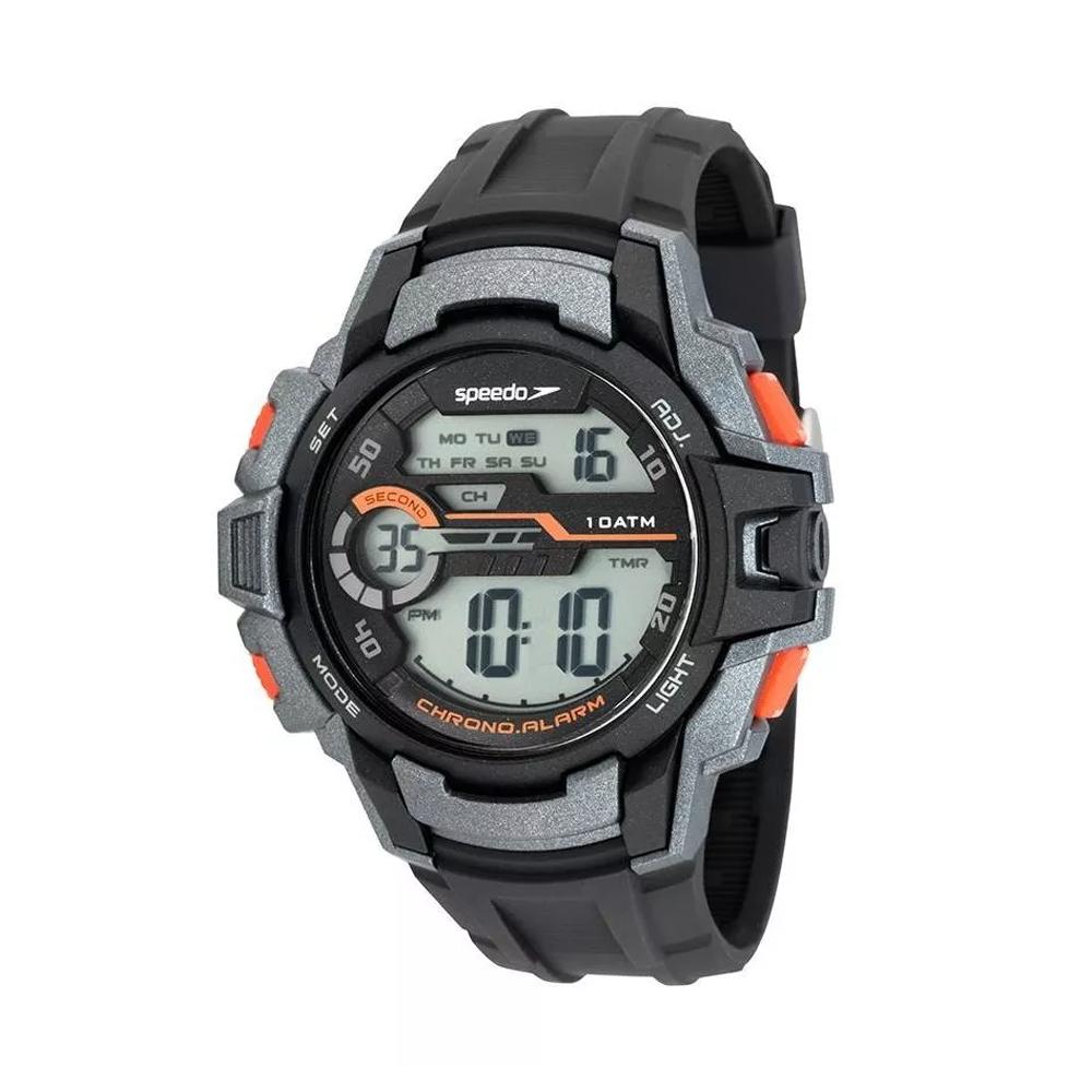Relógio SPEEDO 65090G0EVNP2 Digital - Cinza, Preto, Alaranjado