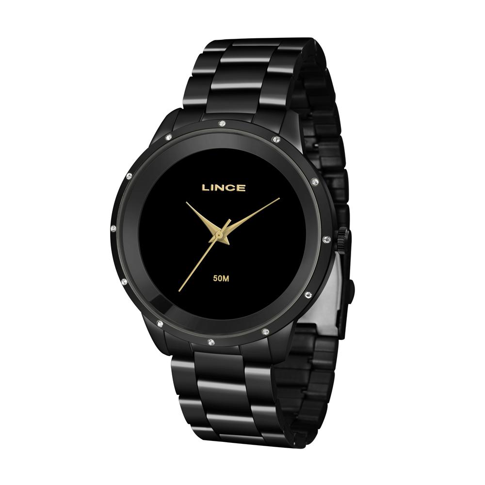 Relógio LINCE LRN619L P1PX Preto Analógico