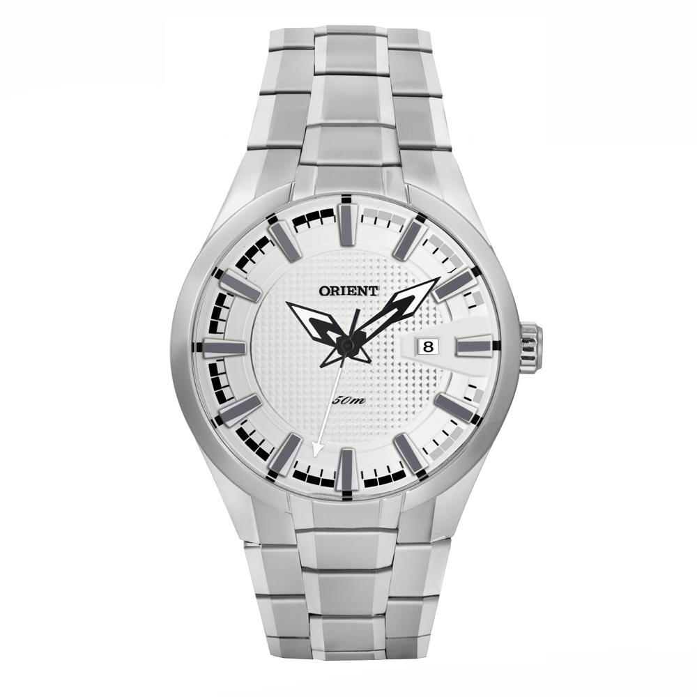 Relógio ORIENT MBSS1227 BPSX Analógico Prata - Fundo Branco