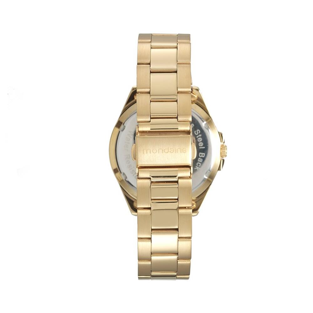 Relógio MONDAINE 53538LPMVDE2 Dourado, Mostrador Azul