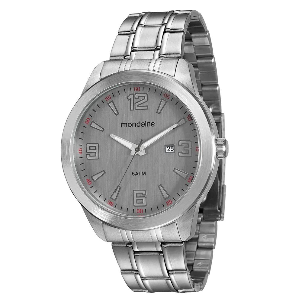 Relógio MONDAINE 78725G0WVNA2 Prata com fundo cinza