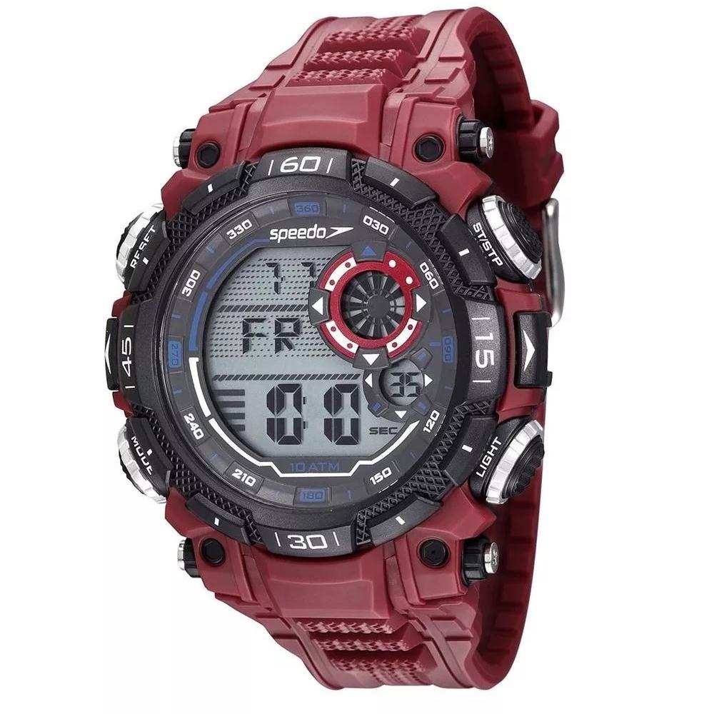 Relógio SPEEDO 80623G0EVNP2 Digital - Vermelho e Petro