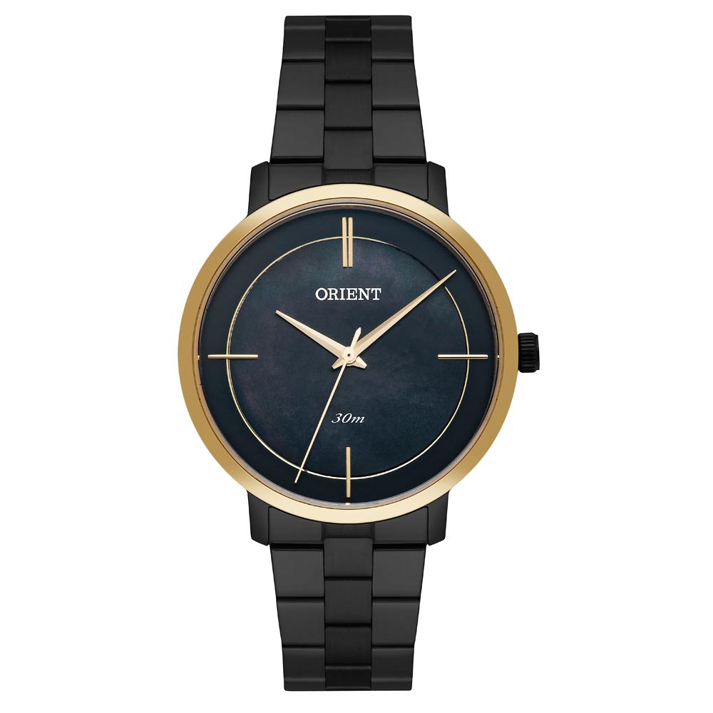 Relógio ORIENT FTSS0058 P1PX Preto com Dourado