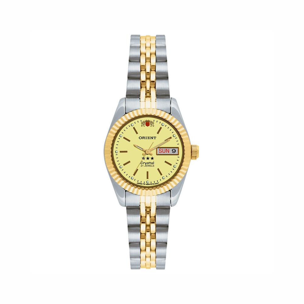 Relógio ORIENT 559EB3X C1SK Automático Feminino Prata e Dourado