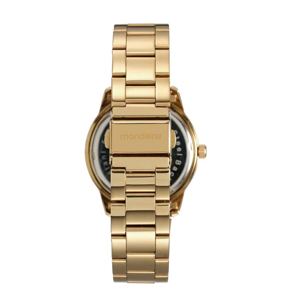 Relógio MONDAINE 94807LPMVDE1 Dourado, Mostrador Azul