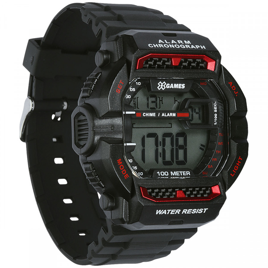 Relógio XGAMES XGPPD086 BXPX Digital - Preto/Vermelho