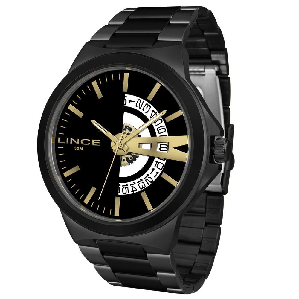 Relógio Lince Masculino  MRN4575S P1PX Preto -  Com Calendário