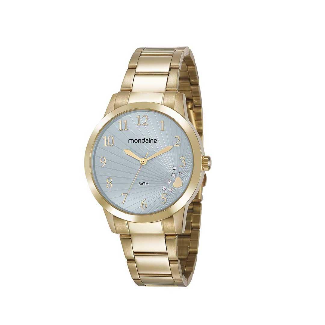 Relógio Mondaine Feminino 53756LPMVDE2 Dourado Kit