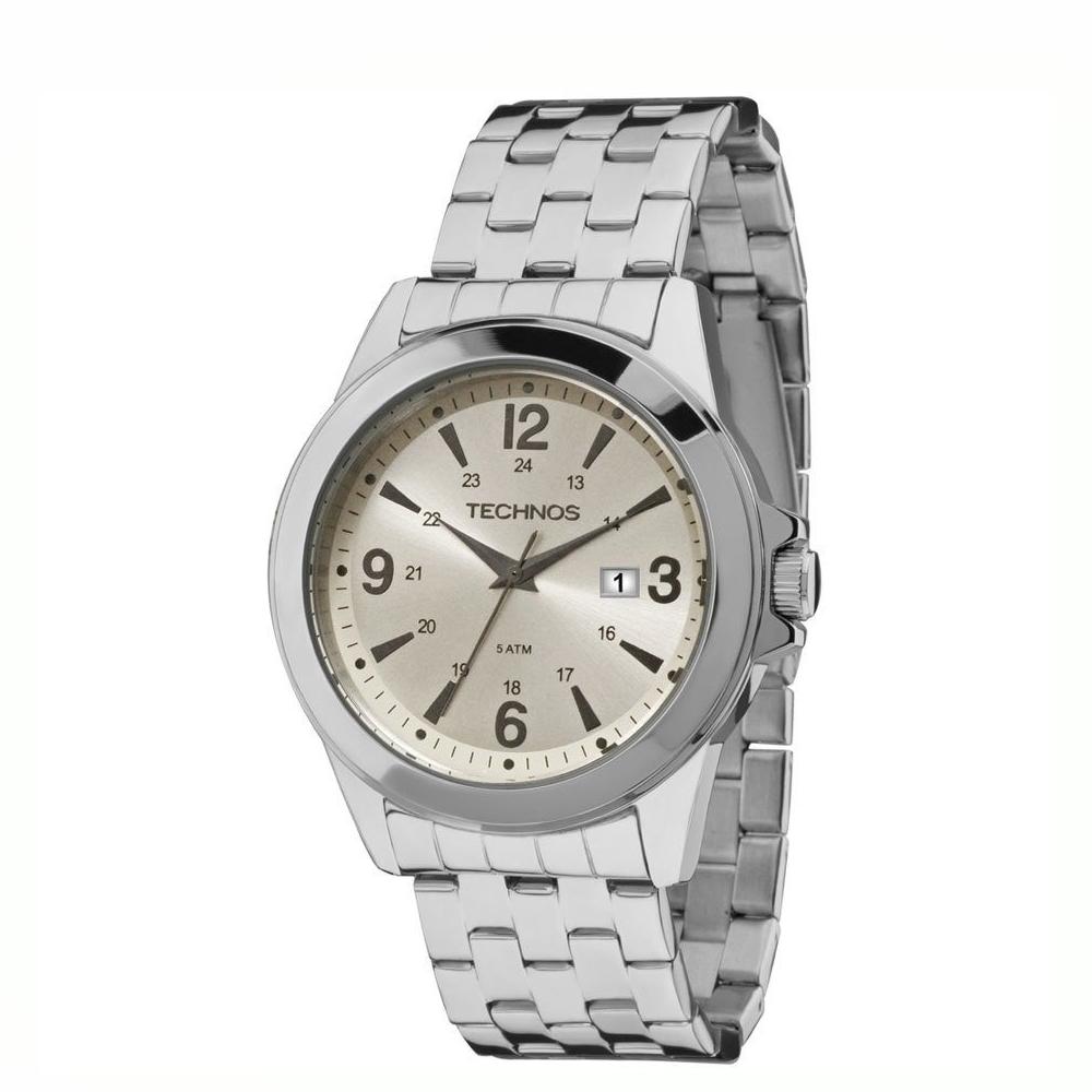Relógio TECHNOS 2115MLE/OX Analógico - Masculino - Prata