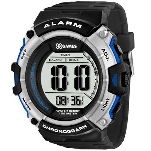 Relógio XGAMES XMPPD314 BXPX Digital - PRETO/PRATA/AZUL