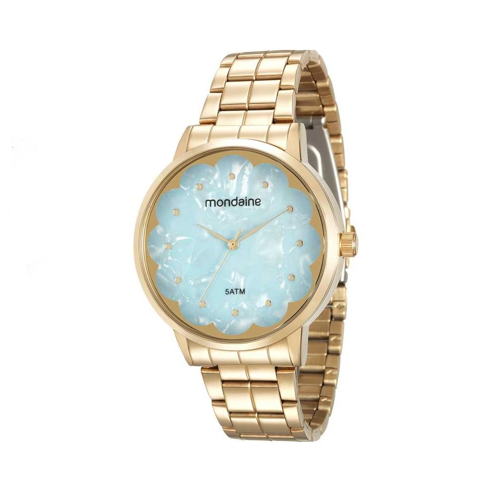 Relógio MONDAINE 99145LPMVDE2 Dourado, Mostrador Azul