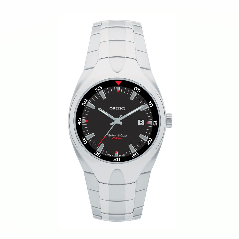 Relógio ORIENT MBSS1077 P2SX Masculino Prata - Fundo Preto