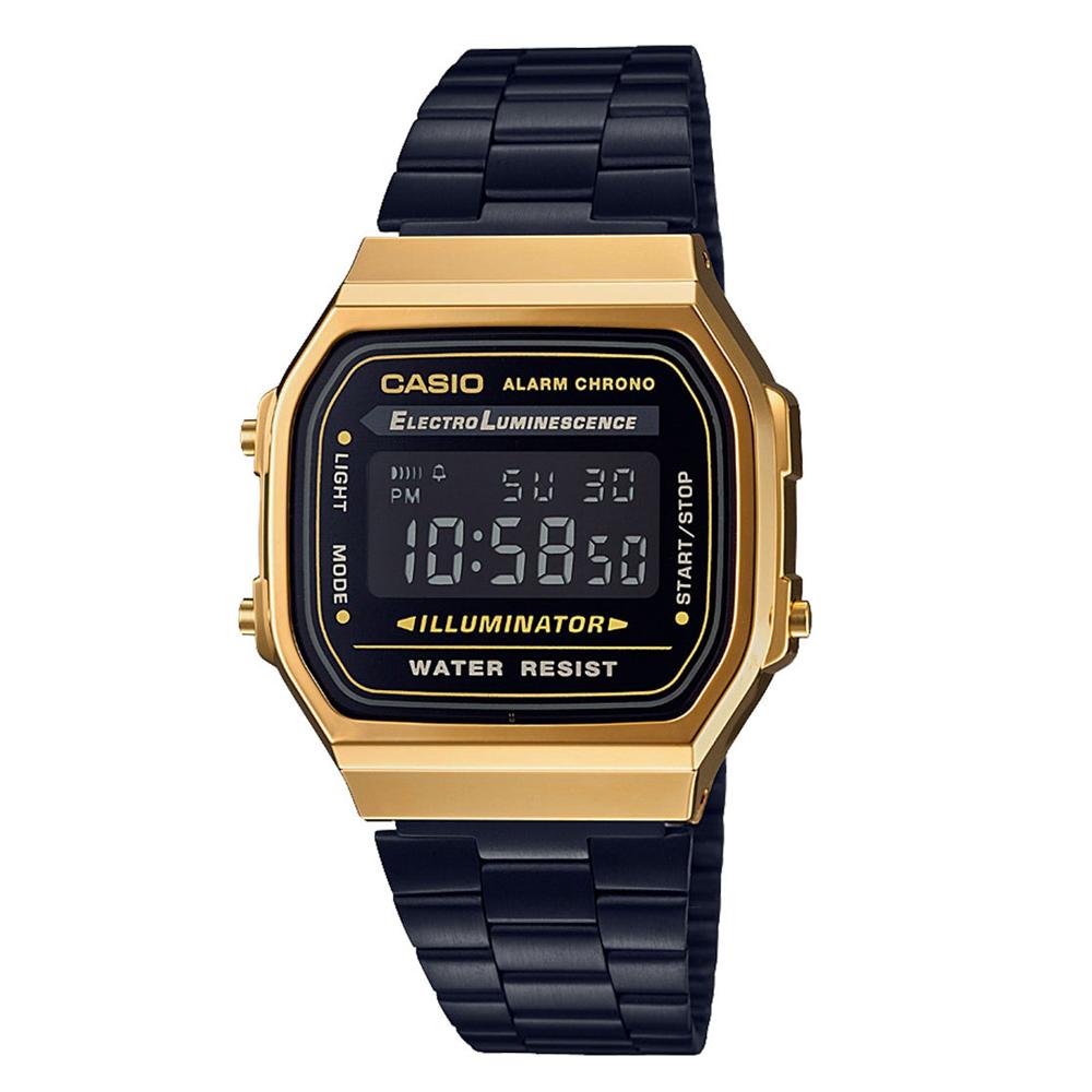 Relógio CASIO VINTAGE A168WEGB-1BDF Preto/Dourado