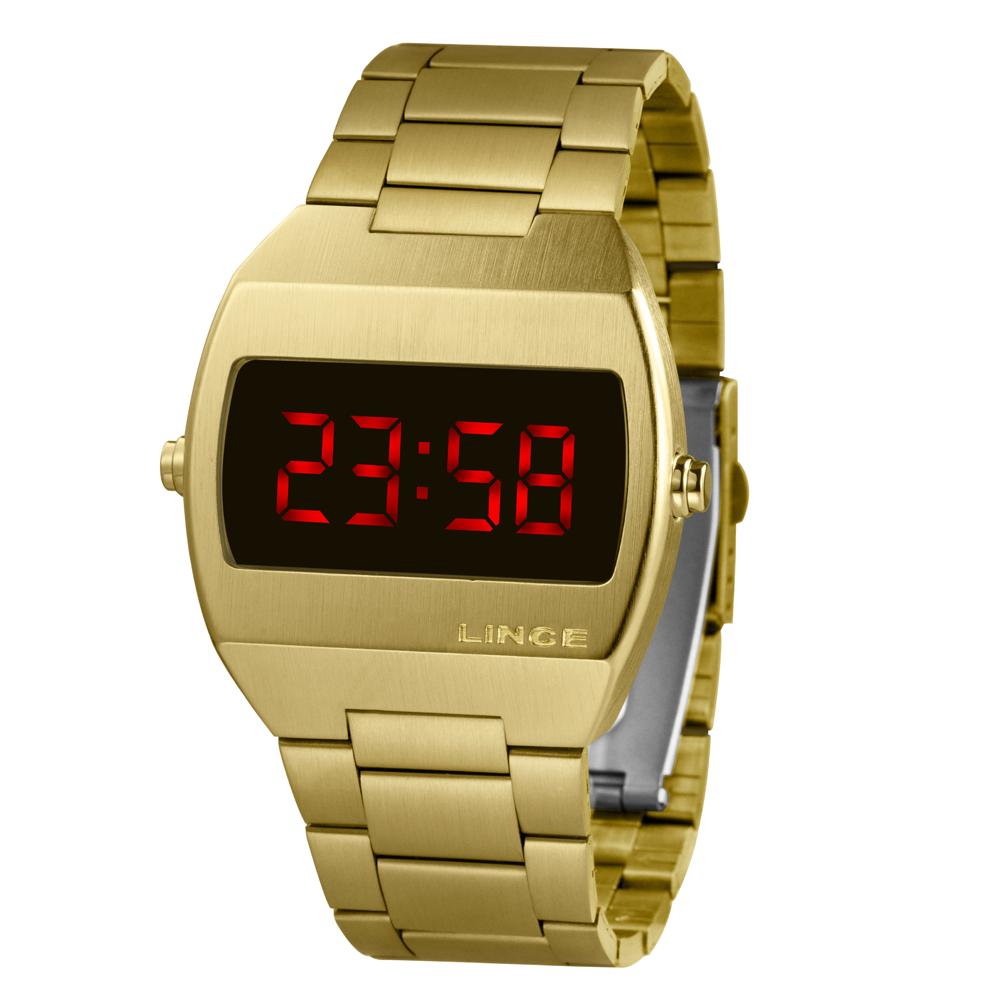 Relógio LINCE Digital Dourado MDG4620L VXKX