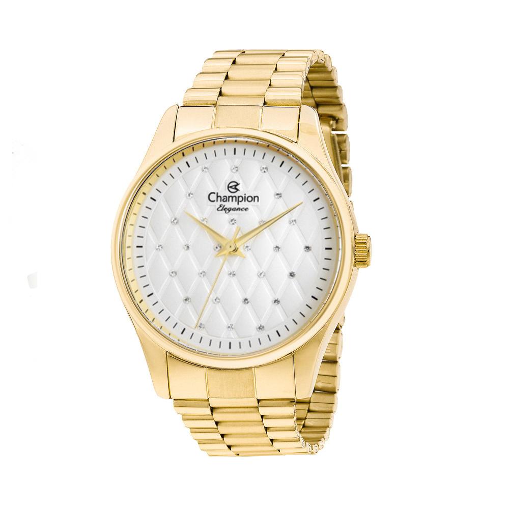 Relógio CHAMPION CN24039H Dourado com fundo claro e pedras