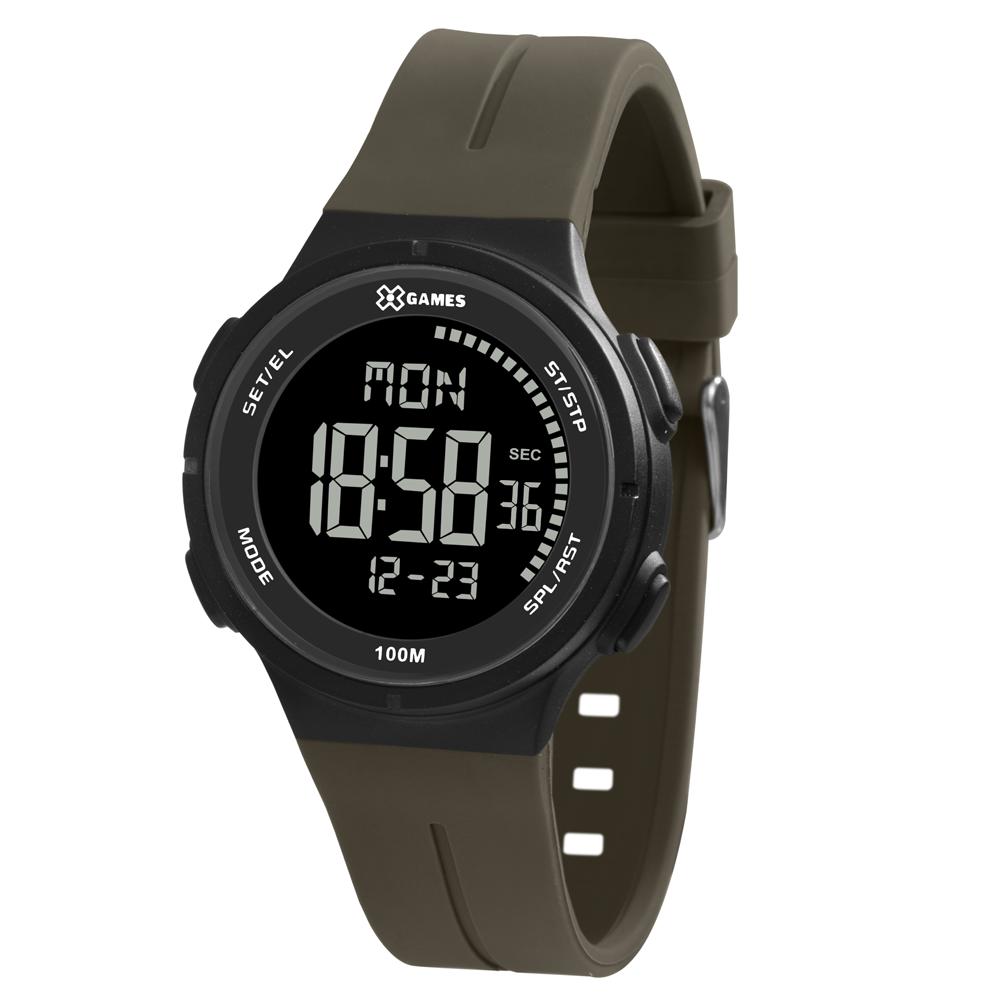 Relógio X-GAMES XMPPD577-PXMX Preto com pulseira Marrom