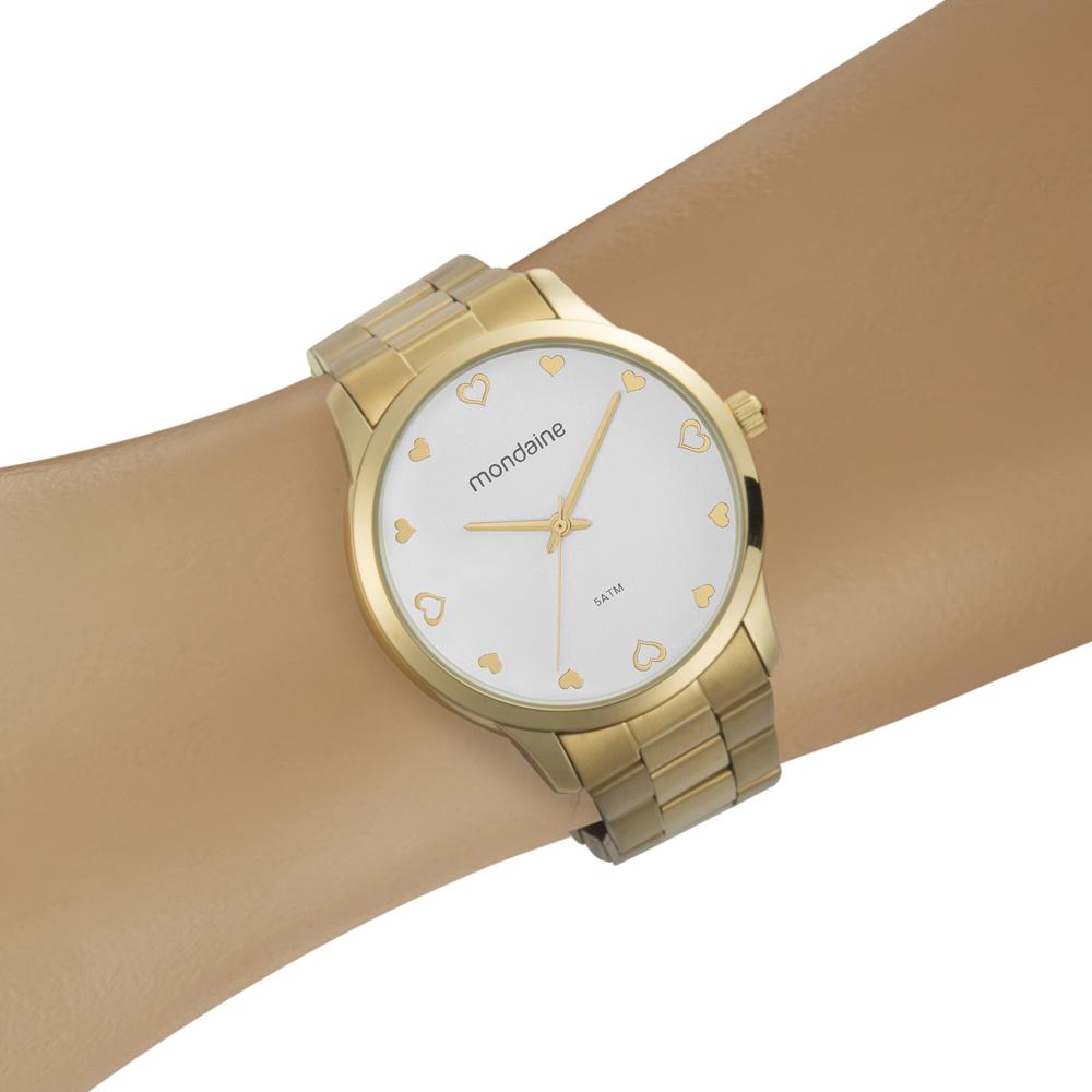 Relógio MONDAINE 32111LPMVDE1 Analógico Dourado - Feminino
