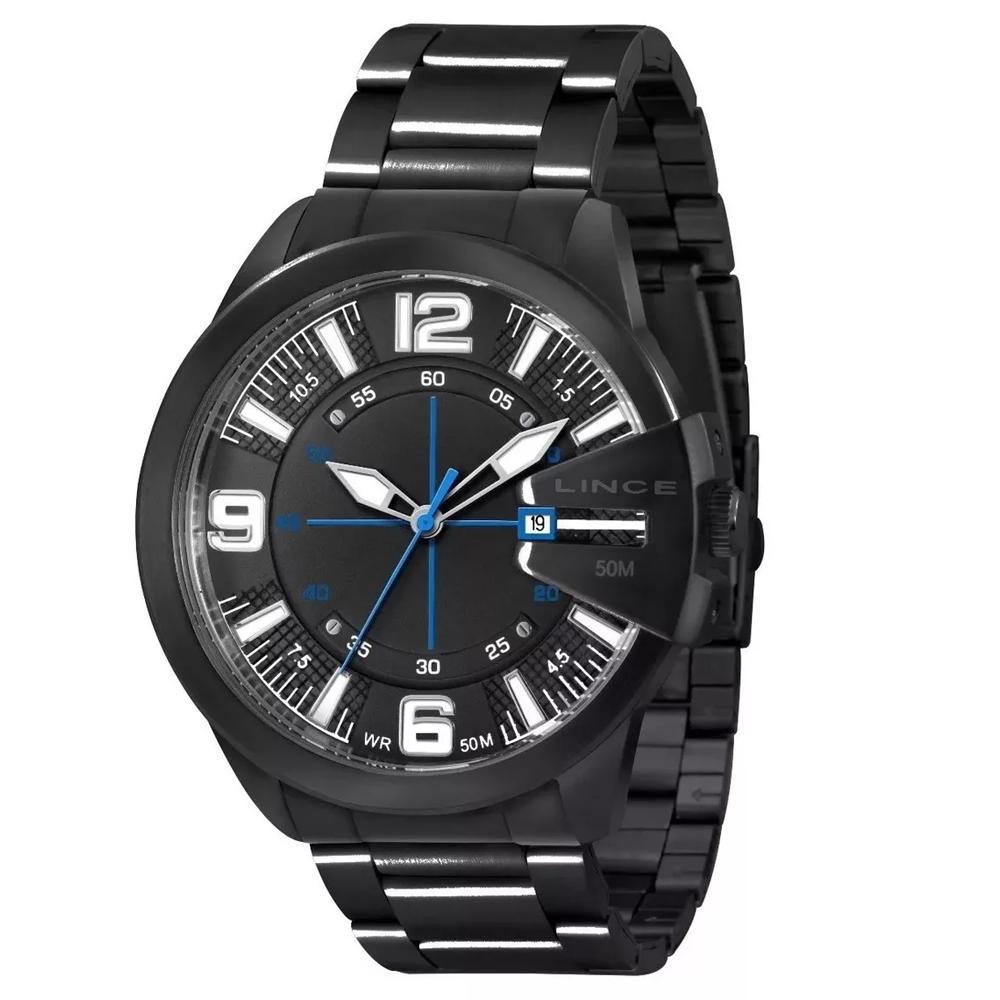 Relógio LINCE MRN4268S P2PX Preto - Detalhe Azul