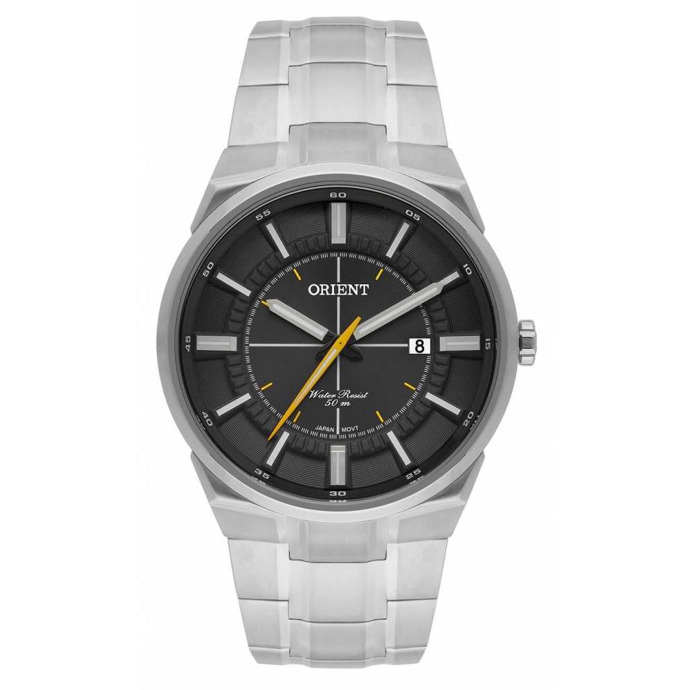 Relógio ORIENT MBSS1328 G1SX Prata Analógico - Mostrador Preto com Calendário