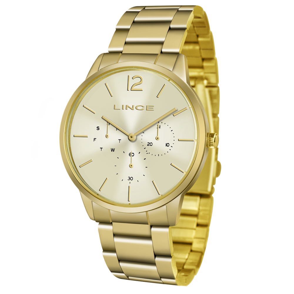 Relógio LINCE Analógico LMGJ087L C2KX Dourado
