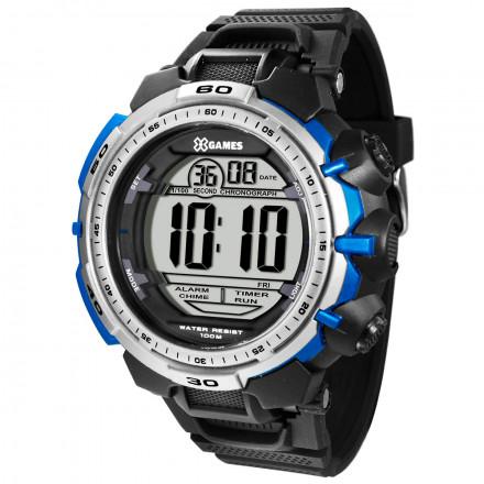 Relógio XGAMES XMPPD404 BXPX Digital - PRETO/PRATA/AZUL
