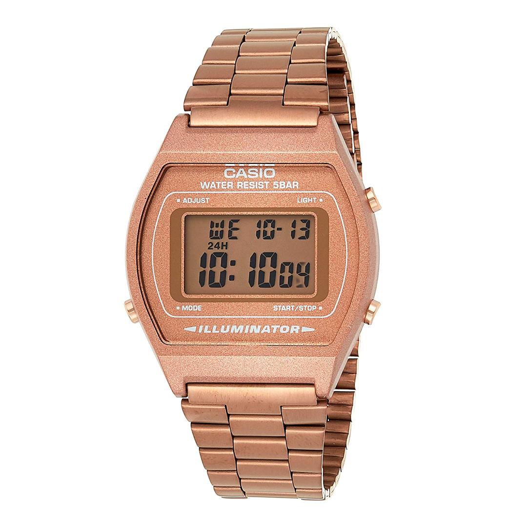 Relógio CASIO vintage Feminino B640WC-5ADF Rosê