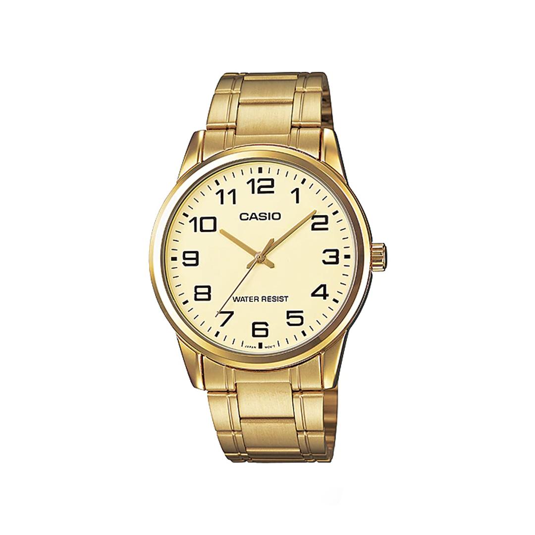 Relógio CASIO MASCULINO Analógico MTP-V001G-9BUDF Dourado